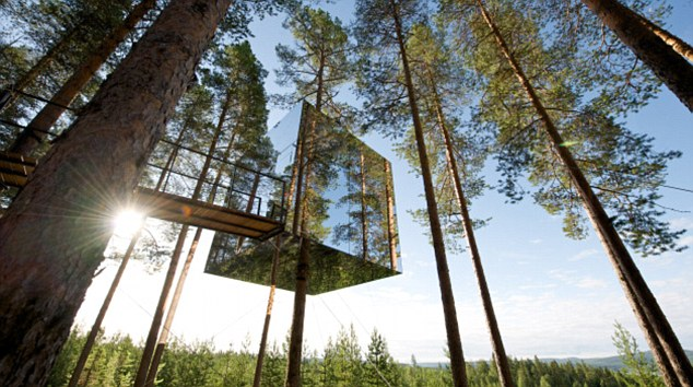 invisible tree house hotel. 1 Mirror Tree House 6 Invisible Hotel G