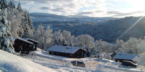 Log Cabins Snowy Ardgarry Farm, Faichem, Invergarry, Inverness-shire, Scotland PH35 4HG