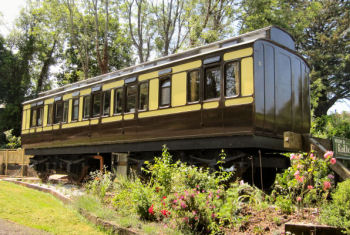 Mevy Slip Coach - Railway Holiday Featured in the Unique Property Bulletin. Haparanda Station, St Germans, Saltash, Cornwall, PL12 5LU.