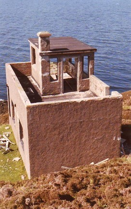 The Old Lookout Coastguard Station PRIOR To Renovation Copyright Russ McLean
