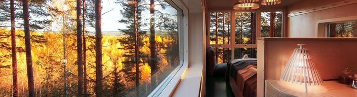 Treehouse Hotel Room Interior (c) Treehotel Brittas Pensionat