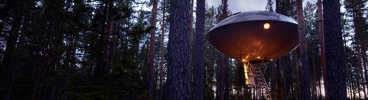 Treehouse Hotel Room UFO (c) Treehotel Brittas Pensionat