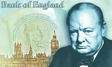 Winston Churchill on next £5 bank note