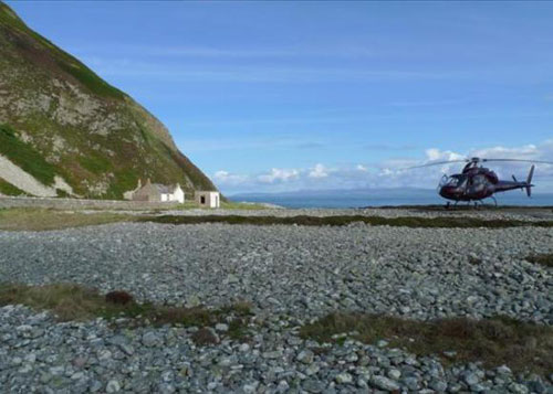 Ailsa Craig Island - Official Helicopter Pad