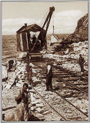 Ailsa Craig Island Railway - Olden Days