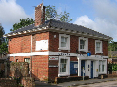 Former Police Station, 1 Station Road, Fordingbridge, Hampshire, SP6 1JN Photo Dave Bevis