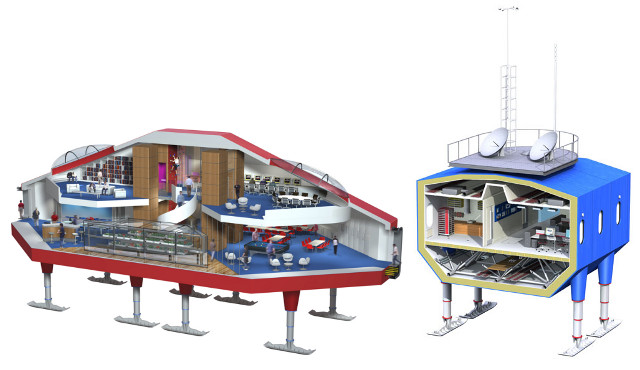 Halley VI Arctic Research Station Cross Section
