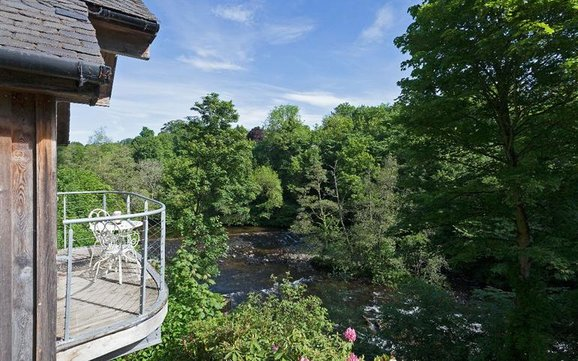River Lodge, Almondbank, Perthshire, PH1 3NW Balcony View