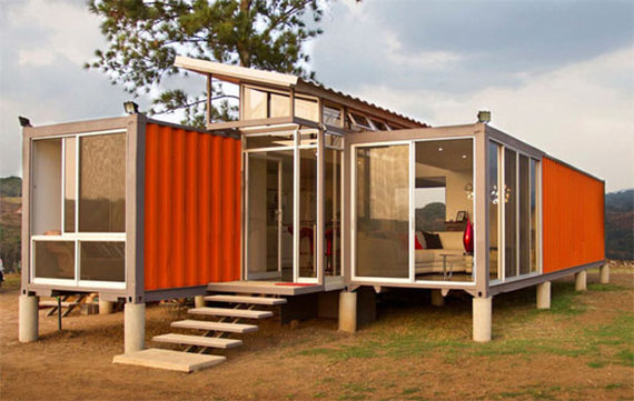 Shipping Container Home Made Elegant