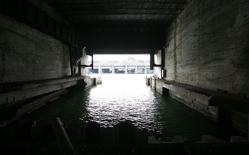Submarine St Nazaire U Boat Pen Rama
