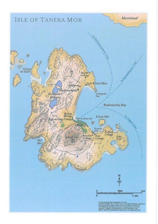 Tanera Mòr Island Map