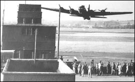 AAA Bassingbourn Control Tower and B-17 Flying Fortress
