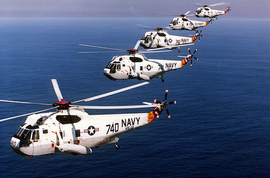 AAA Five U.S. Navy Sikorsky SH-3H Sea King