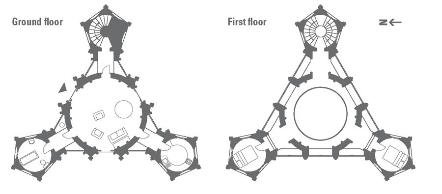AAA Gothic Temple Floorplan Stowe, Buckinghamshire