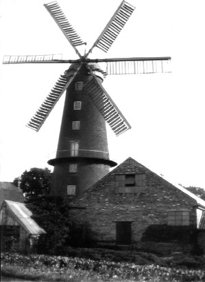 AAA Ingleborough Windmill – As It Was With Sails (c) 1933 Vintage.