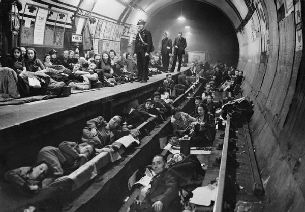 Underground Stations WW2 Home For Many