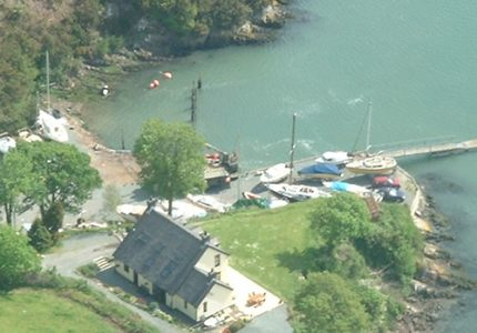 Ariel View - Rudders Boatyard & Badger Cottage